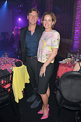 DARCEY BUSSELL and her husband ANGUS FORBES at The London Cabaret Club Gala Launch Party at The Collection, 264 Brompton Road, London on 8th May 2014.
