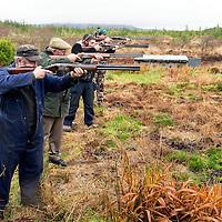 Members of the Kilfenora Gun Club Murt McInerney, Joe O'Loughlin, Marvin Ireland and Pat Murphy