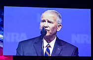 Lt. Colonel Oliver North speaks at the NRA-ILA Leadership Forum during the NRA Annual Meeting & Exhibits on <br /> May 4, 2018 in Dallas, Texas at the Kay Bailey Hutchison Convention Center.