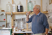 Will Gissane working in the winery at his Herefordshire home<br /> CREDIT: Vanessa Berberian for The Wall Street Journal<br /> HOBBY-Gissane/UK