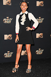 Yara Shahidi at the 2017 MTV Movie And TV Awards Press Room held at The Shrine Auditorium on May 7, 2017 in Los Angeles, California.<br /><br />(Photo by Sthanlee Mirador) *** Please Use Credit from Credit Field ***