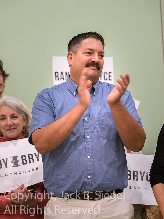 Rally for upstart Democratic congressional candidate and steelworker Randy Bryce at the U.A.W. Local 72 headquarters in Kenosha, Wisconsin