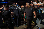 DALLAS, TX - MAY 13:  Yair Rodriguez walks to the Octagon before fighting Frankie Edgar in their featherweight fight during the UFC 211 event at the American Airlines Center on May 13, 2017 in Dallas, Texas. (Photo by Cooper Neill/Zuffa LLC/Zuffa LLC via Getty Images) *** Local Caption *** Yair Rodriguez