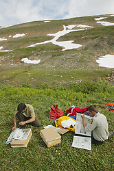 Bruce Bennett & Scott Preparing To Dry Collected Plants