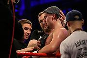 Boxen: x-mas Boxing, Hamburg, 22.12.2017<br /> Schwergewicht: Adrian Granat (SWE) - Irakli Gvenetadze (GEO)<br /> © Torsten Helmke
