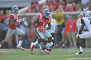 Mississippi Rebels wide receiver Laquon Treadwell (1) is tackled by Vanderbilt Commodores cornerback Tre Herndon (31) at Vaught-Hemingway Stadium at Ole Miss in Oxford, Miss. on Saturday, September 26, 2015. (AP Photo/Oxford Eagle, Bruce Newman)