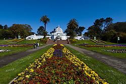 California: San Francisco. Conservatory of Flowers in Golden Gate Park.  Photo copyright Lee Foster. Photo #: 23-casanf78757
