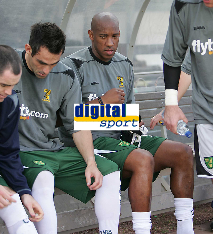 Photo: Lee Earle.<br /> Plymouth Argyle v Norwich City. Coca Cola Championship. 23/09/2006. Norwich's Dion Dublin started on the bench.