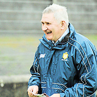 6 January 2013; Clare manager Mick O'Dwyer before the game. McGrath Cup, Preliminary Round, Clare v Limerick Institute of Technology, St Josephs Miltown Malbay GAA Club, Miltown Malbay, Co. Clare. Picture credit: Diarmuid Greene / SPORTSFILE