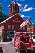 Fire house and truck,  Ridgeway, Colorado