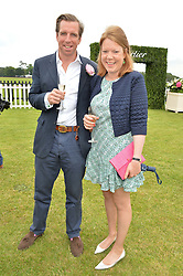 ROBERT & TOR DAVIES-JONES at the Cartier Queen's Cup Final 2016 held at Guards Polo Club, Smiths Lawn, Windsor Great Park, Egham, Surry on 11th June 2016.