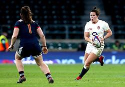 Marlie Packer of England runs with the ball - Mandatory by-line: Robbie Stephenson/JMP - 04/02/2017 - RUGBY - Twickenham - London, England - England v France - Women's Six Nations