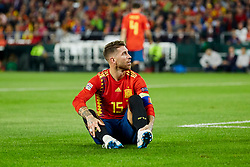 Spain's Sergio Ramos during UEFA Nations League 2019 match between Spain and England at Benito Villamarin stadium in Sevilla, Spain. October 15, 2018. Photo by A. Perez Meca/Alterphotos/ABACAPRESS.COM