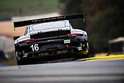 October 15-17, 2020. IMSA Weathertech Petit Le Mans: #16 Wright Motorsports, Porsche 911 GT3 R, Ryan Hardwick, Patrick Long, Jan Heylen