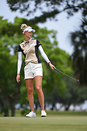 Nelly Korda (USA) after barely missing her putt on 1 during round 2 of the 2019 US Women's Open, Charleston Country Club, Charleston, South Carolina,  USA. 5/31/2019.<br /> Picture: Golffile | Ken Murray<br /> <br /> All photo usage must carry mandatory copyright credit (© Golffile | Ken Murray)