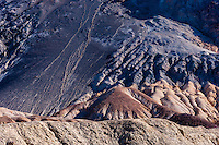 United States, California, Death Valley. Artist's Drive at the foot of the Black Mountains.