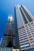 Street view of Willis tower (formerly Sears tower). Chicago IL, USA