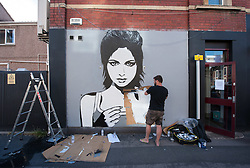 © Licensed to London News Pictures. 23/07/2016. Bristol, UK.  Upfest street art festival 2016, Europe's largest, free, street art & graffiti festival, attracting over 300 artists painting 28 venues throughout Bedminster & Southville, Bristol.  Photo credit : Simon Chapman/LNP