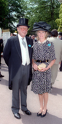 CHRISTOPHER SHAW and LADY MARY-GAYE CURZON at Royal Ascot in 1996.