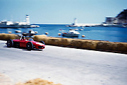 Formula One motor racing Monaco Grand Prix 1961 Richie Ginther in Ferrari 156 F1 sharknose car after chicane