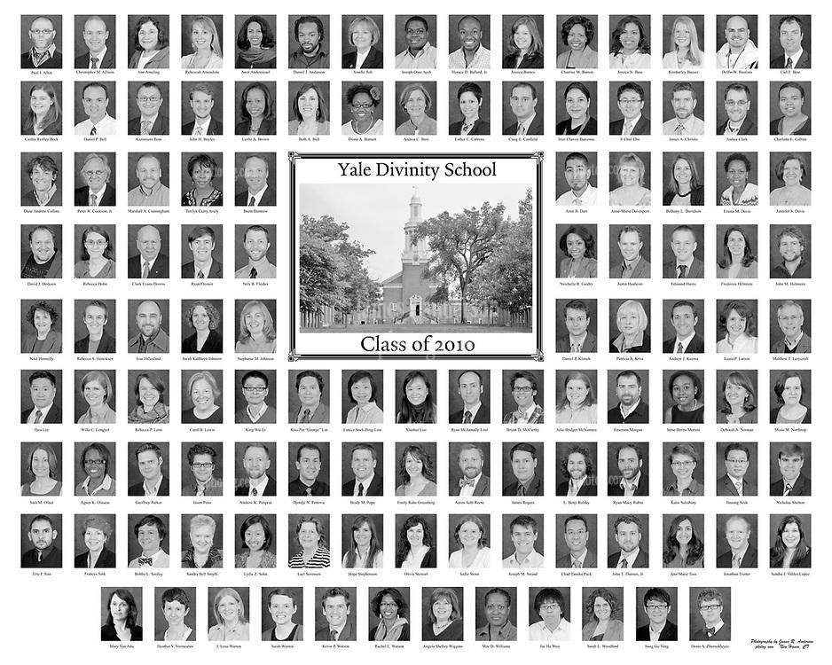 2010 Yale Divinity School Senior Portraits Composite Photograph