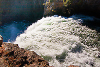 Brink of the Upper Falls on the Yellowstone River.  Yellowstone National Park, Wyoming, USA.