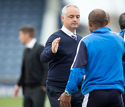 Raith Rovers manager Ray McKinnon at the end.<br /> Raith Rovers 3 v 0 Livingston, SPFL Ladbrokes Premiership game played 8/8/2015 at Stark's Park.