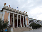 National archaeological museum, established in 1829 in Athens, Greece. Built from 1866 to 1889 and designed in a neo-classical style by main architect Harmodios Vlachos.