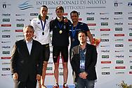 Paolo Barelli <br /> TELEGDY Adam HUN Hungary Silver Medal <br /> WILLIAMS Brodie GBR Great Britain Gold <br /> DE DEUS Leonardo BRA Brazil Bronze <br /> MEN - 200M BACKSTROKE <br /> Roma 23/06/2019 Stadio del Nuoto Foro Italico <br /> FIN 56 Trofeo Sette Colli 2019 Internazionali d'Italia<br /> Photo Andrea Staccioli/Deepbluemedia/Insidefoto