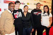 """Hasuan Smalls, Heather Smith, Stefanie Brown,and Kirt Clay at The Hip Hop Research and Education Fund(HREF), PowerPAC and the HipHop Summit Action Network (HSAN) present the national """"HipHop Team Vote: Turn Up the Vote"""" campaign event held at Temple University's Liacouras Center Arena on April 20, 2008 ..The HipHop Team Voe: Turn up the Vote brings together hiphop stars and community activists to send a strong, clear message to 18-35 year olds about the importance of voting in the Pennsylvania primary and national presidential election."""