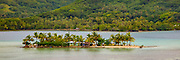 Motu, Maroa Bay, Huahine, French Polynesia,