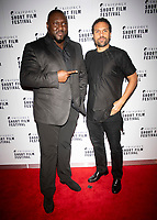 Nonso Anozie and O T Fagbenle at the TriForce Short Film Festival gala ceremony, BFI Southbank, London, UK - 30 Nov 2019