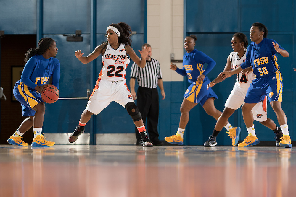 Dec. 3, 2014; Morrow, GA, USA; CSU's Tiayra Green (22) in action against Fort Valley State at CSU. Clayton State won 87-73. Photo by Kevin Liles / kevindliles.com