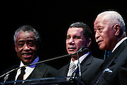 """15 November 2010- New York, NY- Rev.Al Sharpton, Governor David Paterson, and Former Mayor David Dinkins at The National Action Network's 1st Annual Triumph Awards honoring """"Our Best"""" in the Arts, Entertainment, & Sports held at Jazz at Lincoln Center on November 15, 2010 in New York City. Photo Credit: Terrence Jennings"""