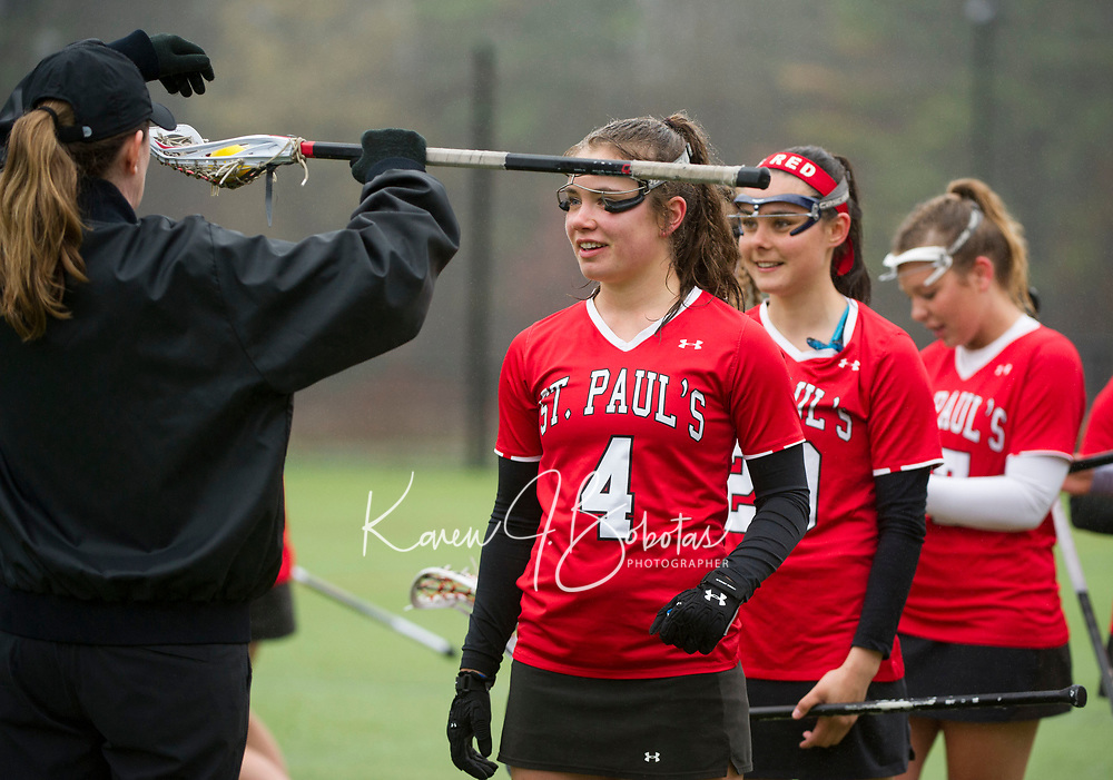 St Paul's School varsity girls lacrosse. ©2017 Karen Bobotas Photographer