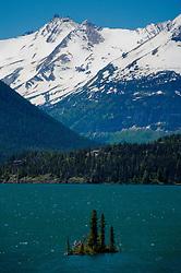 Wild Goose Island in St. Mary Lake, Glacier National Park, Montana, US