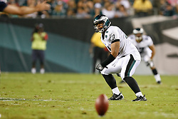 Philadelphia Eagles running back Marcus Mailei #41 lines up before a kick off during the preseason NFL game between the New England Patriots and the Philadelphia Eagles. The Patriots won 27-25 at Lincoln Financial Field in Philadelphia, Pennsylvania. (Photo by Brian Garfinkel)