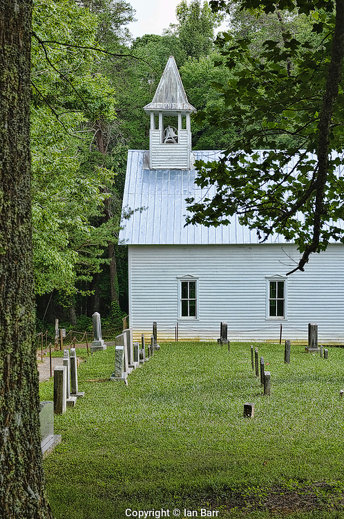 Primitive Baptist Church,Cades Cove, Tennessee.Great Smoky Mountains National Park, Tennessee,USA.