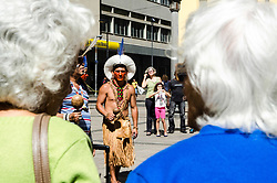September 2, 2017 - Sao Paulo, Brazil - About 25 ethnic groups participate in the First Indigenous Culture Meeting in Campinas, which will bring together traditional dances, lectures, workshops and shows, as well as a handicraft fair that takes place in partnership with Mundo Mix Market, the largest economy fair creative country. (Credit Image: © Maycon Soldan/Fotoarena via ZUMA Press)
