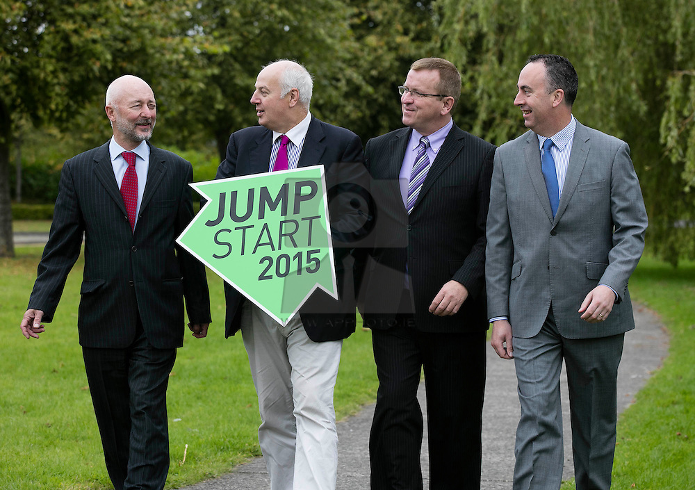 Repro Free: 07/09/2015<br /> Pictured at the launch of JumpStart 2015, a competition from the LINC Centre, at the Institute of Technology Blanchardstown (ITB) are judges, Declan Lyons, Technology Infrastructure Programme  Manager, Enterprise Ireland, entrepreneur, Bobby Kerr, Oisin Geoghegan, Head of Local Enterprise  Local Enterprise Office Fingal and Padraig Challoner, AIB Business Manager for Blanchardstown. JumpStart is an annual business start up competition now in its sixth year with a prize package worth €25,000. Application forms can be downloaded from www.thelinc.ie/jumpstart with a closing date of 5pm on the 16th of October. Picture Andres Poveda