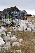 Ruins of houses and other buildings, Pirou-Plage