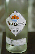 Tio Doro masthia spirit made from the sap of the mastic tree. Restaurant Berdema Ton Gefseon. Drama, Macedonia, Greece