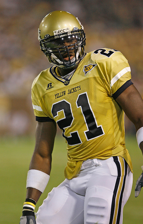 Georgia Tech WR Calvin Johnson had 111 receiving yards and a TD during the game against Georgia Tech at Grant Field in Bobby Dodd Stadium in Atlanta, GA on September 2, 2006.  The Fighting Irish beat the Yellow Jackets 14-10.