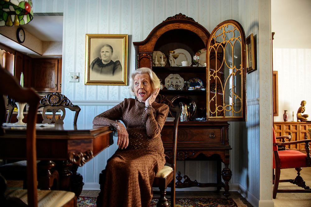 Photo by Matt Roth..Betty Patton, 91, from Larksville, Pennsylvania is photographed in her home on Saturday, January 26, 2013. Spring Cleaning reminds her of her past.