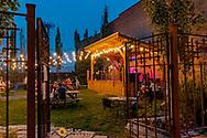 David Walburn and Michael Atherton perform at The Gunsight Saloon in downtown Columbia Falls, Montana, USA