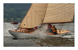 Sunshine, a 6 metre built in 1929, sailed by Helen Sandiford and an all girl crew...This the largest gathering of classic yachts designed by William Fife returned to their birth place on the Clyde to participate in the 2nd Fife Regatta. 22 Yachts from around the world participated in the event which honoured the skills of Yacht Designer Wm Fife, and his yard in Fairlie, Scotland...FAO Picture Desk..Marc Turner / PFM Pictures