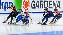 13-01-2019 NED: ISU European Short Track Championships 2019 day 3, Dordrecht<br /> Sofia Prosvirnova #4 RUS, Anna Seidel #51, Veronique Pierron #31 FRA, Yara van Kerkhof #12 NED