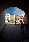 Small Market Square in Cracow, Poland