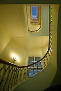 Hotel stairwell in Segovia, Spain