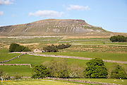 Carboniferous limestone scenery Pen Y Ghent, Yorkshire Dales national park, England, UK from Horton in Ribblesdale